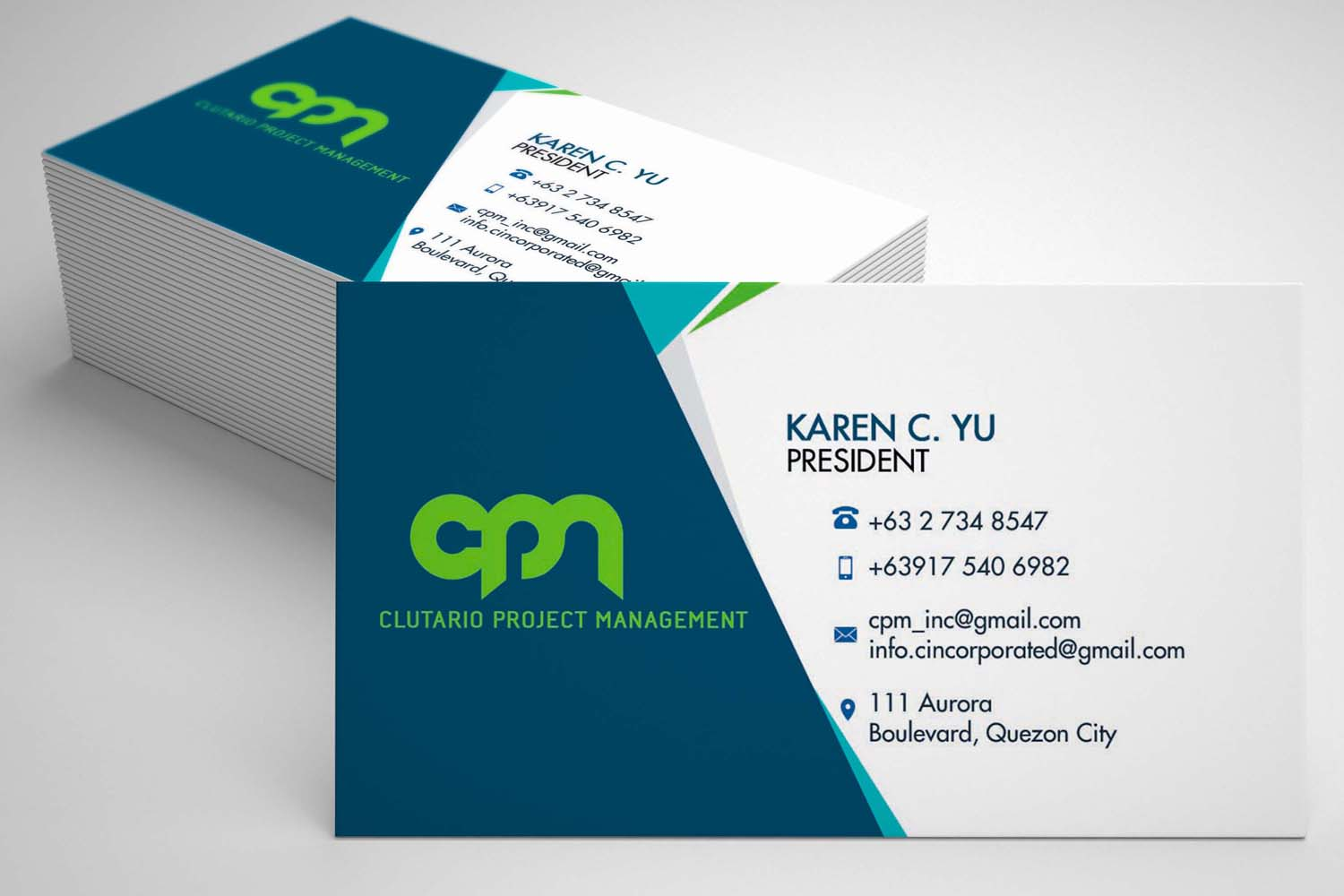 Construction Project Manager Calling Card